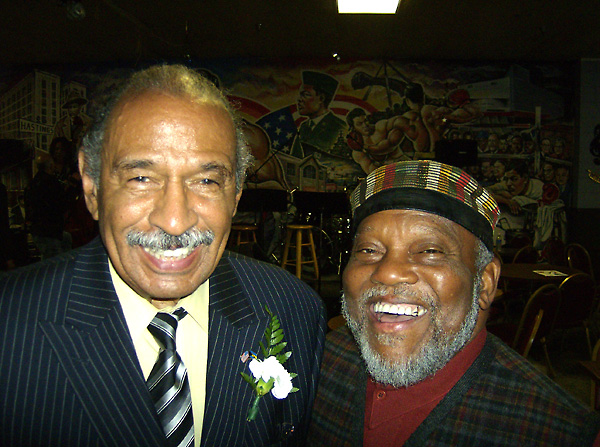 Marcus with Congressman John Conyers